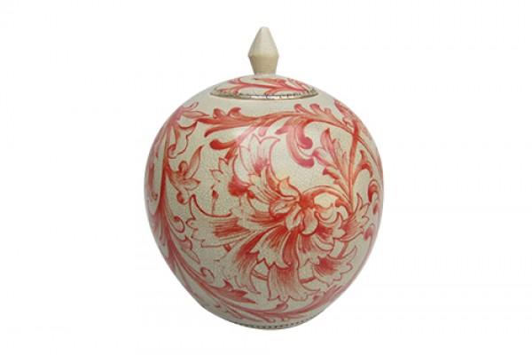 Bình Gốm Bông Hoa Đỏ HM6184