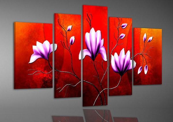 Tranh hoa màu tím