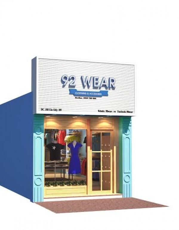 Thiết kế và thi công nội thất shop 92 Wear