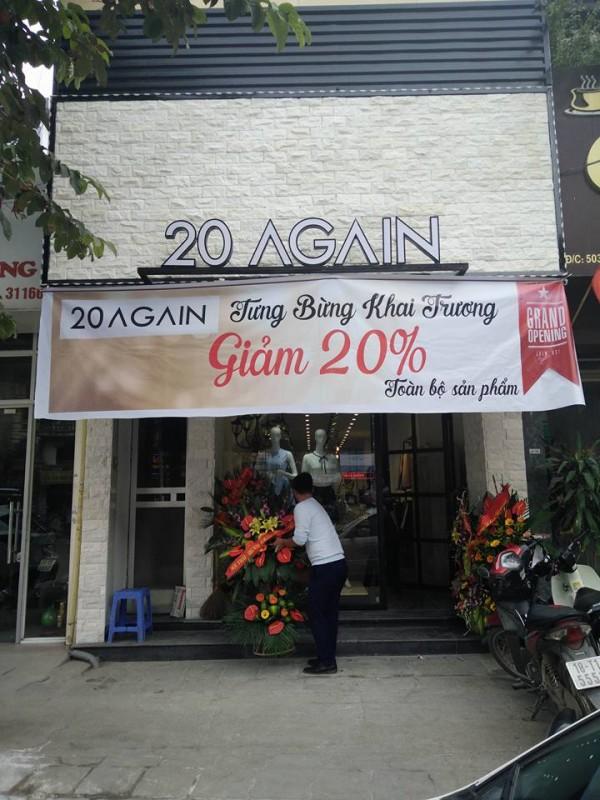 Thi công showroom 20 Again Nguyễn Trãi